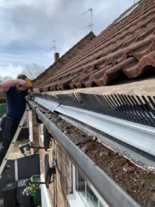 Eave trays and bird guards fitted in Leeds to stop birds entering the roof space For all Bird Proofing work contact the experts here