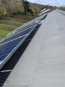 Pigeon proofing to solar panels in leeds